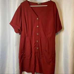 Yoins | Maroon Romper 3x Worn Once great condition